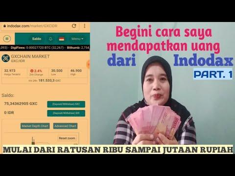 Cara Mendapatkan Penghasilan Ratusan Ribu Sampai Jutaan Rupiah Dari Indodax Part .1