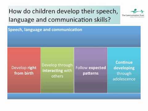 Session 19 Understanding Children's speech, language and communication development