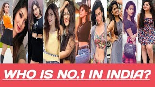 Top 10 popular girls on Tik tok in INDIA 2019 | beautiful girls | cute girls