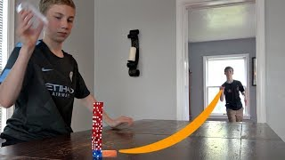 Bottle Cap Flick Trick Shots 2 | That's Amazing