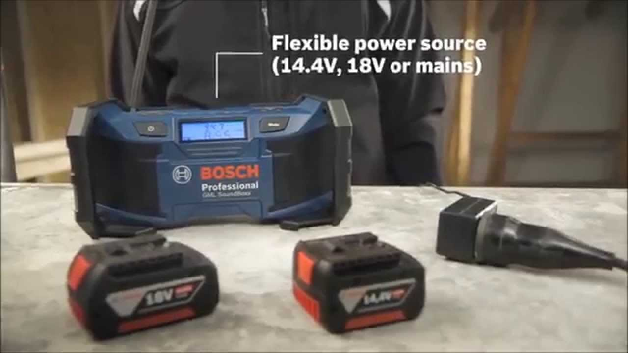 bosch gml soundboxx jobsite radios from power tools uk youtube. Black Bedroom Furniture Sets. Home Design Ideas
