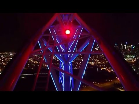 Trip to Melbourne Star - Night flight - Sat 14th May 2016
