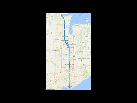"Entire length of Yonge St ""longest street in the world"" Toronto to Barrie by motorcycle [stabilized]"