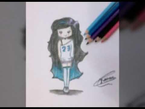 تعليم رسم فتاة جميلة كيوت روعة Youtube