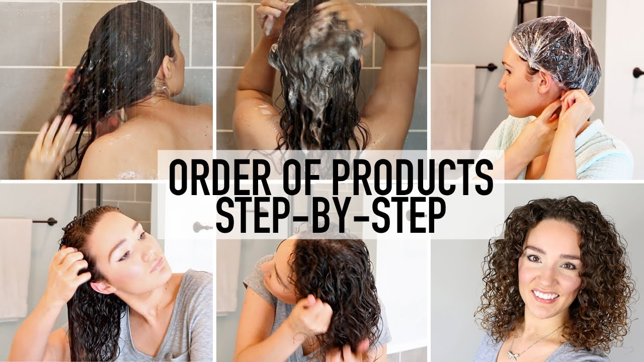 How To Apply Curly Hair Products In The Right Order Step By Step Routine Youtube