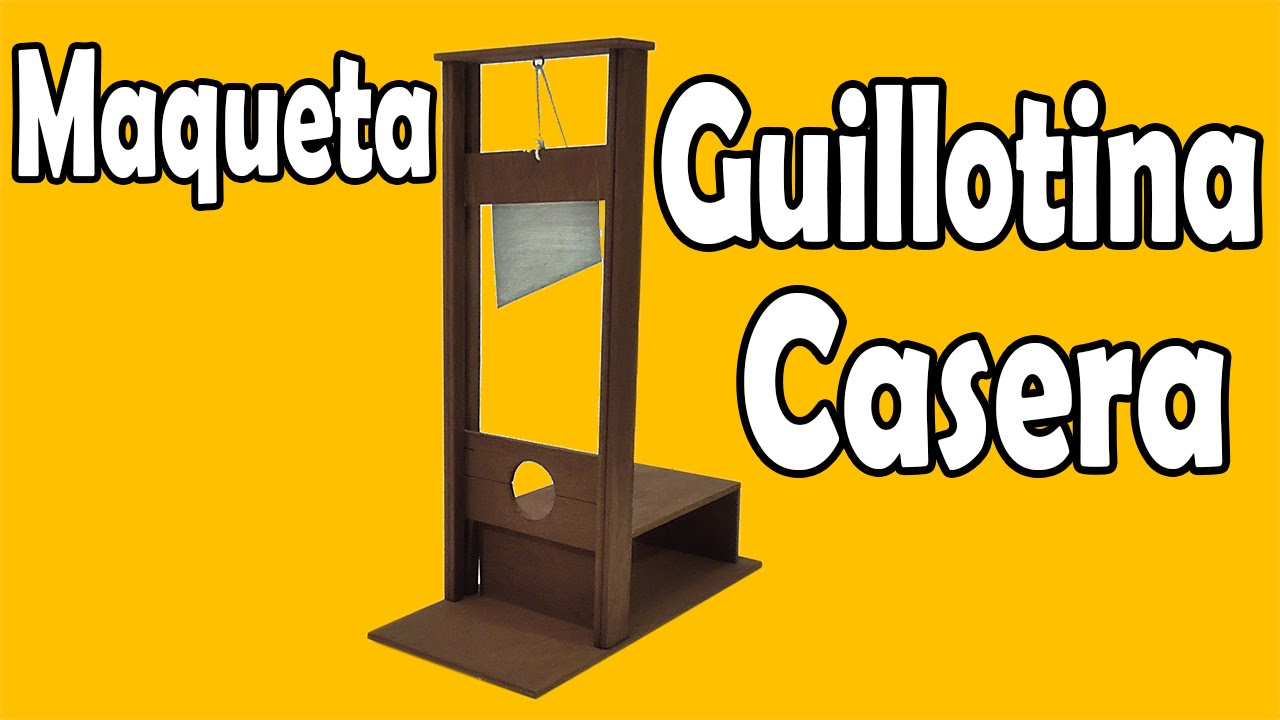 C 243 Mo Hacer Guillotina Casera Muy F 225 Cil De Hacer Youtube
