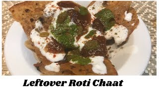 Chaat with Leftover Roti | Easy crispy chaat recipe! Recipe with Leftover Roti