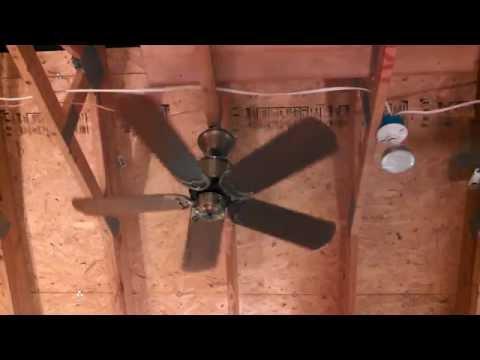 """Fanimation Islander Ceiling Fan model FP320AB1 with Casablanca Four Seasons/Nassau 17"""" blades"""