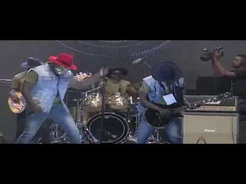 Ghana's Afro Rock Group, Dark Suburb on the 2016 AFRIMA Music Village stage
