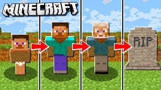 If Minecraft had a REALISTIC Life span (Be Born a Baby & Die Old)