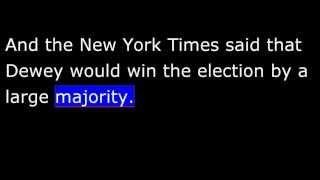 American History - Part 195 - Truman - 1948 Election - Dewey Wins(Not)