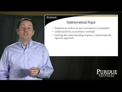 Purdue University online Master's Program in Economics: Professor Kevin Mumford, Econometrics