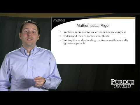 Purdue University online Master's Program in Economics: Professor Kevin Mumford, Econometrics