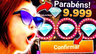 GANHEI 9.999 DIAMANTES no Diamante Royale!? - FREE FIRE