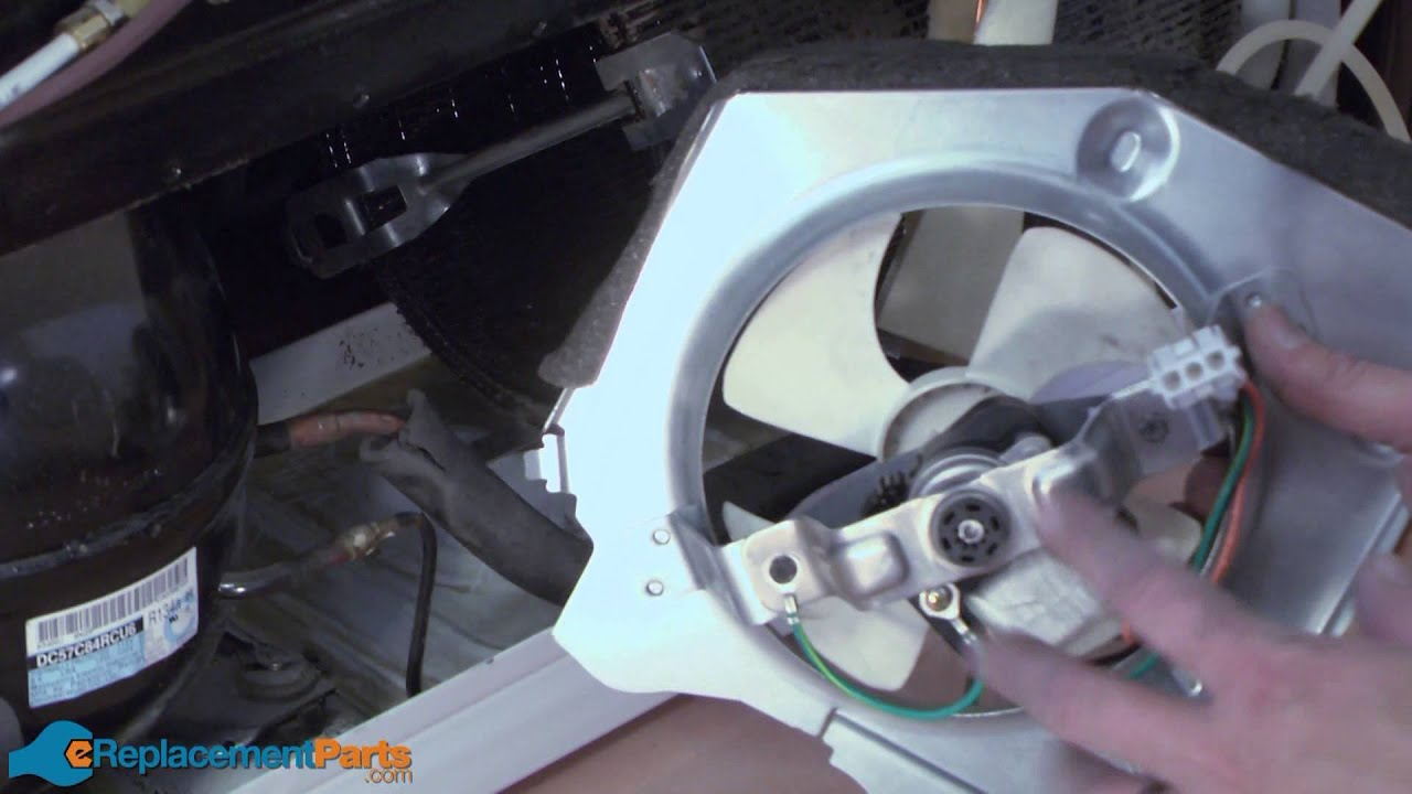 how to replace the condenser fan motor on a ge refrigerator [ 1280 x 720 Pixel ]