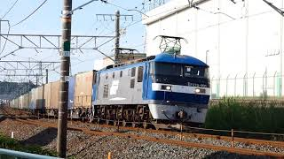 2018/05/22 JR貨物 鷲津カーブから貨物列車5本