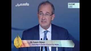 Francis Stijnen, Deputy Mayor of Turnhout, Belgium at Jalsa Salana UK 2014