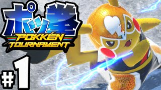 Pokken Tournament Gameplay Walkthrough PART 1 Pokemon x Tekken! Nintendo Wii U 60fps Pikachu Libre