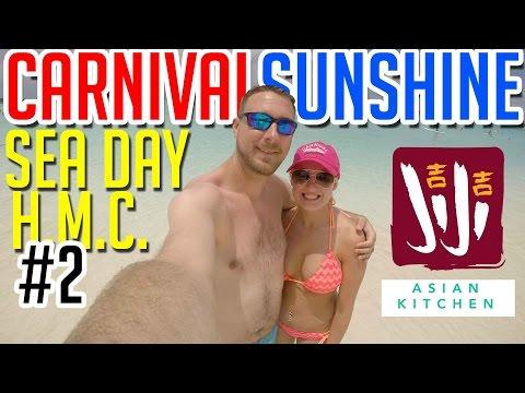 Carnival Sunshine - Sea Day, Half Moon Cay, and Ji Ji Asian Kitchen