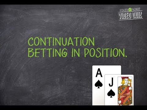 Continuation bet video