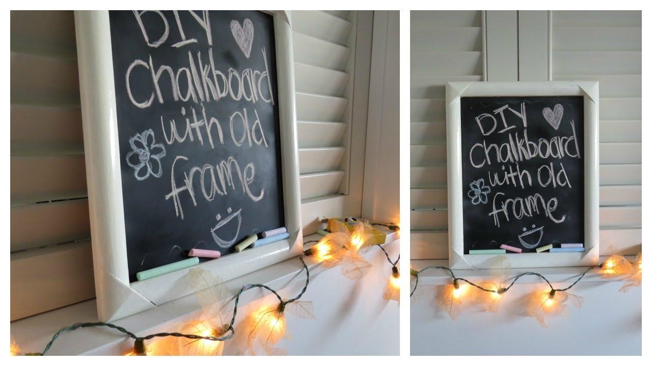 chalkboard diy with old frame - Diy Chalkboard Frame