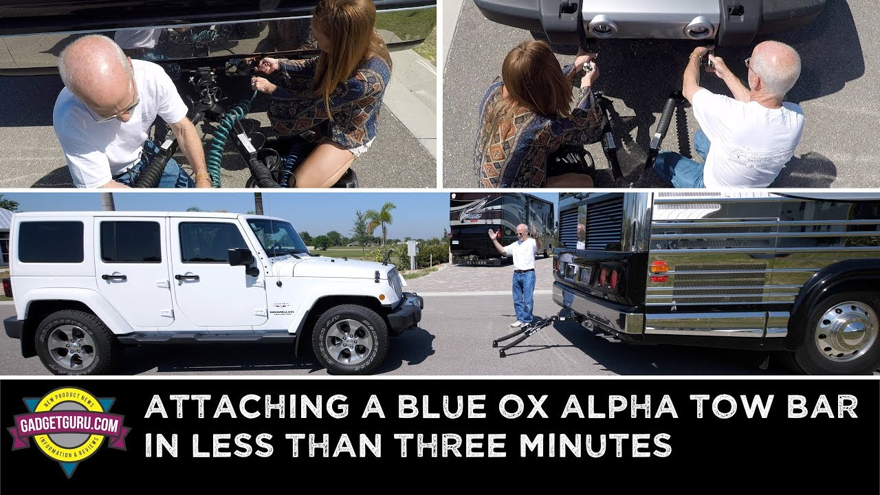 medium resolution of how to attach a blue ox tow bar to a jeep and a motorhome