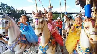 Turn into princess play and Go to the amusement park | Fantastic family | Nastya,Diana,Vlad,Ryan