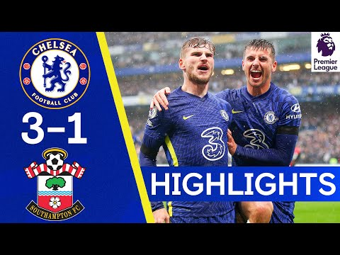 Chelsea 3-1 Southampton |  Werner shines as the Blues move to the head of the table |  Highlights of the Premier League