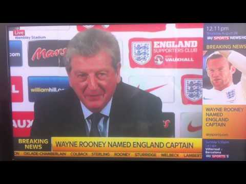Roy Hodgson calls Colback 'The Ginger Pirlo' & Rooney named England captain