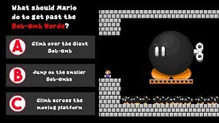 How should Mario escape Bowser
