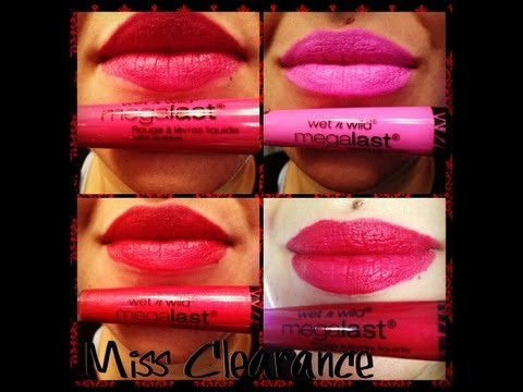 Wet n Wild Megalast Liquid Lip Color Review/First Impression - YouTube