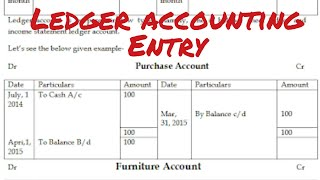 Ledger entry in accounting