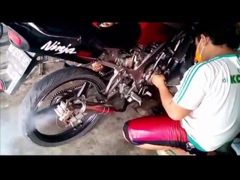 Tehnik Setting Motor Kawasaki Ninja Drag Race | Modifikasi Motor Ninja