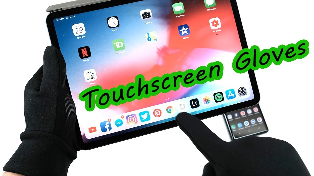official photos 4aa9c 595ac The Best Winter Gloves for Note 9/iPad Pro 2018 (MUJJO) Touchscreen Gloves  [4K] 60fps