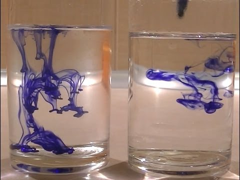 Diffusion and Temperature: Water & Pen ink & Vinegar