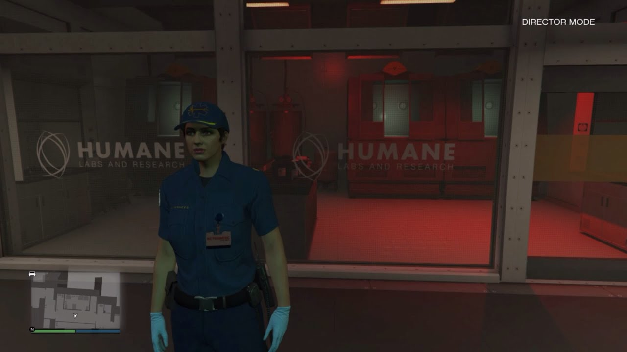 Gta 5 how to get in the Humane Labs in DIRECTOR MODE!