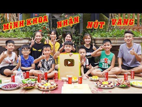 Minh Khoa Đập Hộp Nút Vàng YouTube ♥ Min Min TV Minh Khoa