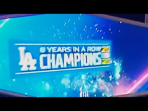 L.A. Dodgers Defeat The Oakland A's And Clinch 8th Consecutive N.L. Title By Joseph Armendariz