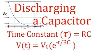 RC Circuits (6 oḟ 8) Discharging a Capacitor, Time Constant, Voltage, Current, An Explanation