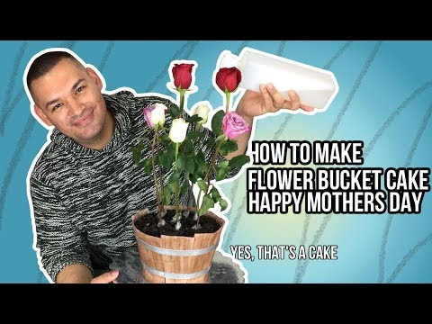 How To Make A Wooden Rose Pot Cake For Mother's Day