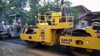 Perbaikan aspal jalan 10menit langsung mulus #Desa_Raci #vlog 03