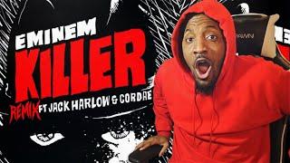 THIS IS WHY EM GOES LAST! | Eminem - Killer (Remix ft. Jack Harlow, Cordae) (REACTION!!!)
