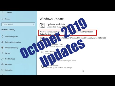 Windows Malicious Software Removal Tool X64 - KB890830 || KB4517389 Cumulative Update - October 2019