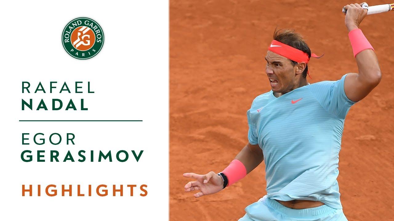 Rafael Nadal Vs Egor Gerasimov Round 1 Highlights Roland Garros 2020 Youtube