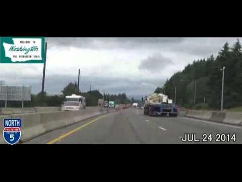 Portland OR to Seattle WA Time Lapse Drive 2014