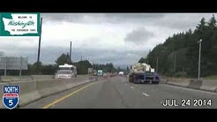 Portland OR to Seattle WA Time Lapse Drive 2014