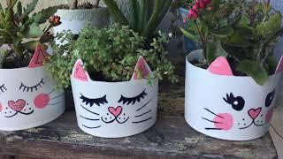 Decore sua Casa com os Vasinhos de Carinha de Gatinho