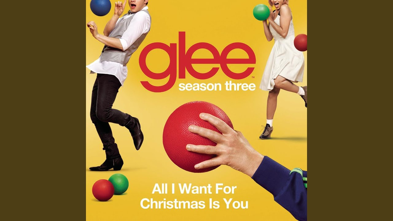 youtube glee all i want for christmas is you