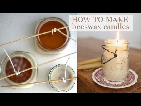 Beeswax Candles DIY- Handmade Candles at Home