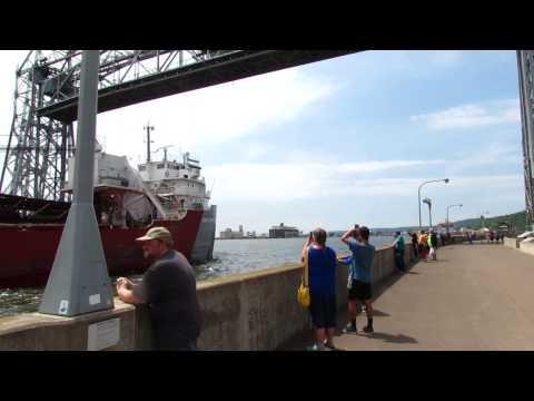 John G. Munson-self-unloading freight ship on Lake Superior